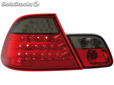 Pilotos traseros led bmw E46 coupe 98-03_ROJO/ahumado