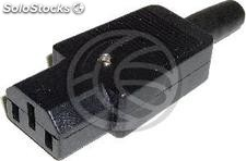 Pin iec-60320 C13 (Straight Female Black) (CM31)