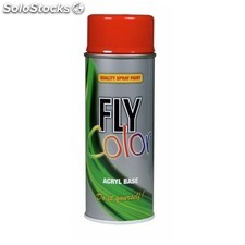 Pintura Acrilica Brillante 400 Ml Ral 9010 Blanco Puro Fly Color