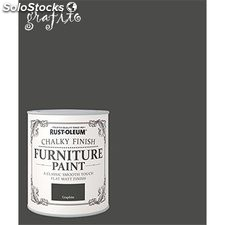 Pintura efecto tiza Chalk Paint Rust-Oleum Xylazel 750 mL 813 Grafito