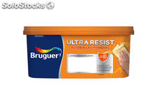 Pintura plastica mate ultra resist marron nogal 4L