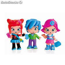 Pinypon by Piny Pack 3 Figuras Michelle, Rita y Sam
