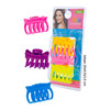 Pinzas pelo neon, natural care, 3uds.