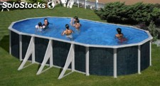 Piscina BARBADOS 730 x 375 x 120 cm pared de acero Astralpool