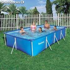Piscina bestway splash frame 400x211x81 cod 56405 for Piscinas desmontables segunda mano ebay