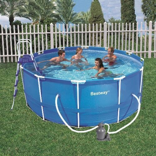 Piscina bestway steel pro 457x122 56100sf for Piscina 457 x 122