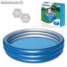 Piscina Big Metalic 150x53 cm