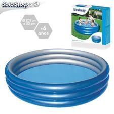 Piscina big metalic hinchable 201x53cm