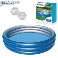 Piscina big metalic hinchable 249x53cm