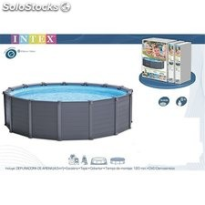 Piscina Circ 478X124Cm Aren 16805Lt Graphite Intex