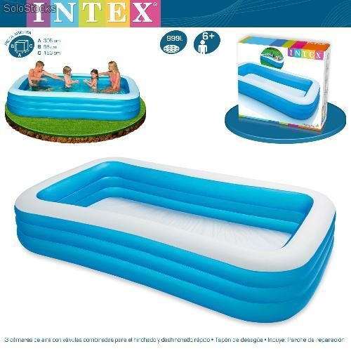 Piscina de pvc intex hinchable 305x183x56 cm 58484 for Piscinas de 3 metros