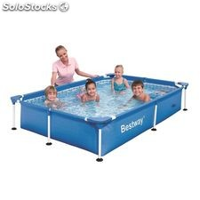 Piscina desmontable infantil tubular splash jr. 229 x 160 x 43cm.parche
