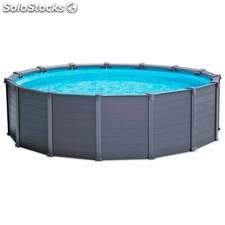 Piscina desmontable Intex Graphite Panel 478x124 cm (con...