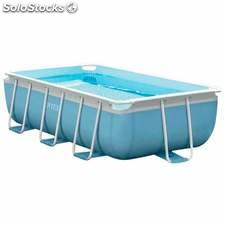 Piscina desmontable INTEX Prisma Frame rectangular 400x200x100 cm...