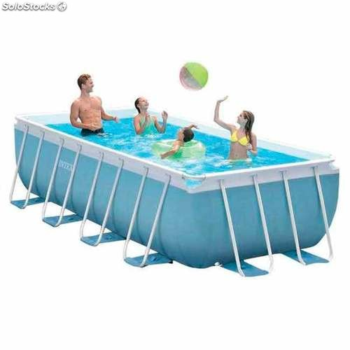 Piscina desmontable intex prisma frame rectangular for Cuanto sale instalar una piscina