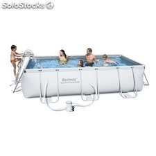 Piscina Desmontable Tubular Bestway Power Steel 404x201x100 cm. Ref. 56441
