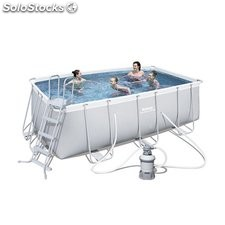 Piscina Desmontable Tubular Bestway Power Steel 412x201x122 cm. Ref. 56457