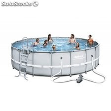 Piscina Desmontable Tubular Bestway Power Steel 549x132 cm. Ref. 56427