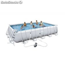 Piscina Desmontable Tubular Bestway Power Steel 671x366x132 cm. Ref. 56470