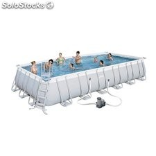 Piscina Desmontable Tubular Bestway Power Steel 732x366x132 cm. Ref. 56474