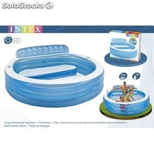 Piscina familiar c/sillon 224x216x76 cm / edad 3+