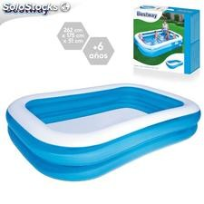 Piscina family blue hinchable 262x175x51cm