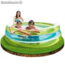 Piscina hinchable 3 Aros Transparente de Intex 203x51 cm - cod. 57489NP