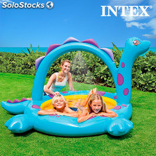 Piscina Hinchable con Ducha Dinosaurio Intex