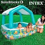 Piscina hinchable con sombrilla casa intex