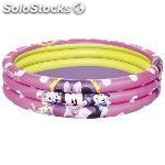 Piscina hinchable de 3 aros bestway 102X25CM minnie 91060