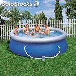 Piscina hinchable familiar bestway fast set con depuradora 366X91CM