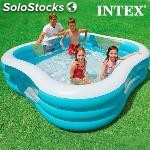 Piscina hinchable family intex 229 x 56 x 229 cm.