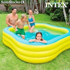 Piscina Hinchable Family Intex, caoacudad 1.215 litros, 229 x 56 x 229 cm