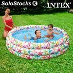 Piscina hinchable infantil intex estrellas de mar 168X38CM - 581L