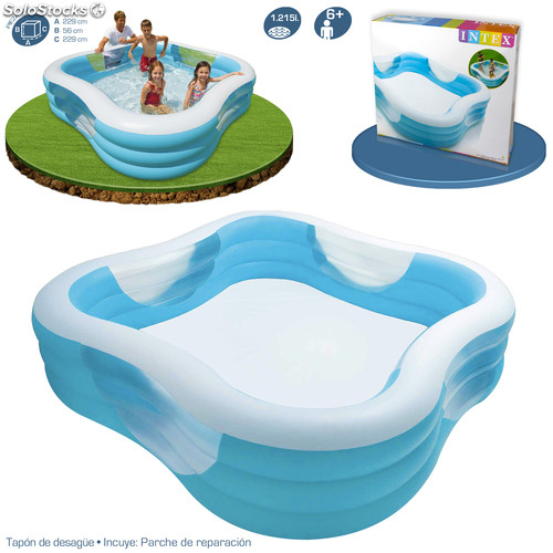 piscina hinchable swim center family intex