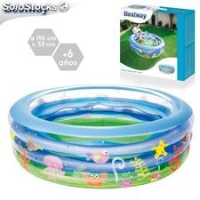 Piscina hinchable ocean world 195x54cm