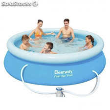 Piscina hinchable redonda Bestway Fast Set 305x76cm (incluye...