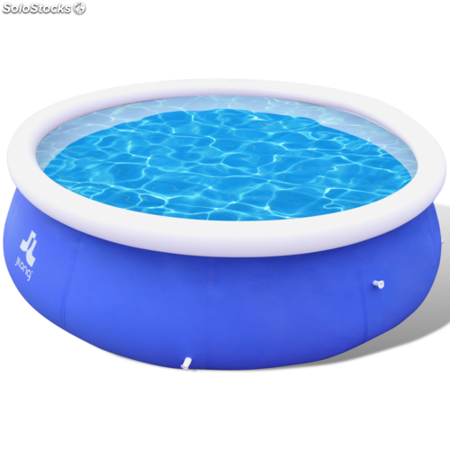 Piscina inflable azul 360 x 90 cm for Piscina inflable decathlon