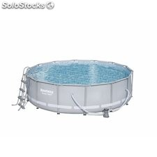 Piscina Pvc Circ 427X107Cm Cart 15232Lt Power Steel Bestway
