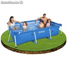 Piscina rectangular de plástico Intex Small Frame 300x200x75cm. - cod. 28272