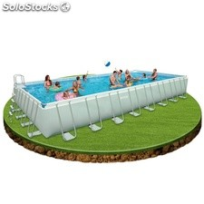 Piscina rectangular de plástico Intex Ultra Frame 732x366x132cm. - cod. 28362