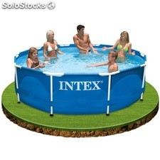 Piscina redonda Intex Metal Frame 457x122cm kit todo incluido - Cod. 28236
