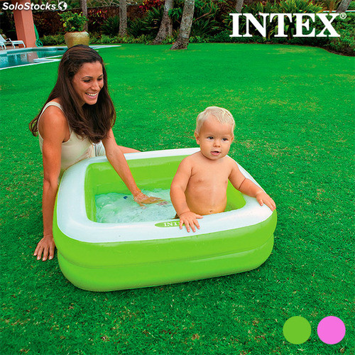 Piscine gonflable carr e pour enfants intex for Piscine carree intex