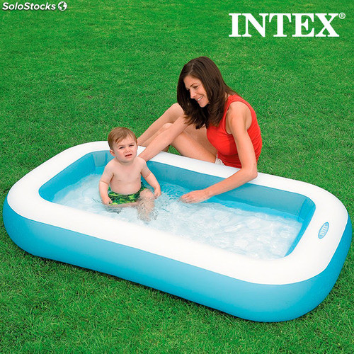Piscine gonflable pour enfants rectangle intex for Rustine pour piscine intex
