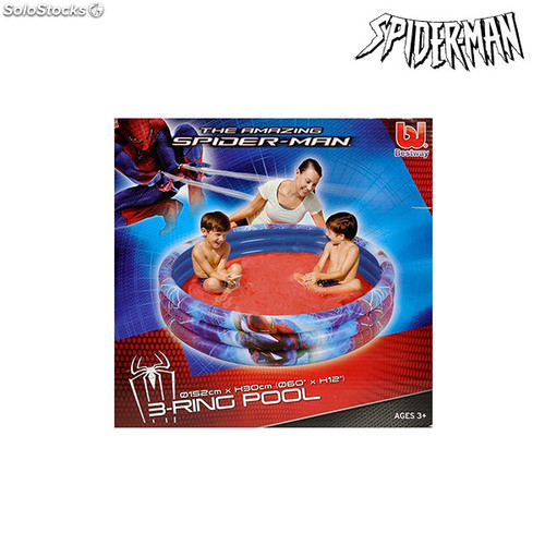 Piscine gonflable spiderman for Rustine piscine gonflable