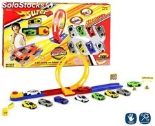 Pista Looping + 10 Coches