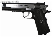 Pistola cromado CO2 4.5mm Colt 1911 Airsoft