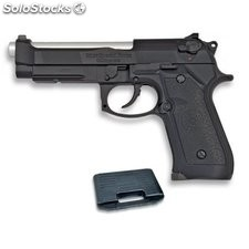 Pistola De Gas Blow Back Airsoft Hfc Cuerpo Pvc Calibre 6 Mm Color Negro Incluye