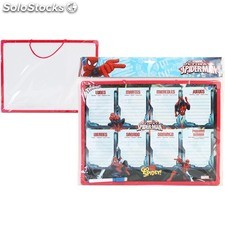Pizarra semana 30X40 c/rotuladores spiderman - marvel - 8433774618164 -