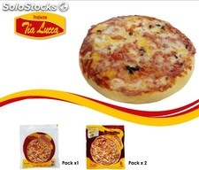 Pizza de jamon y queso personal 100g